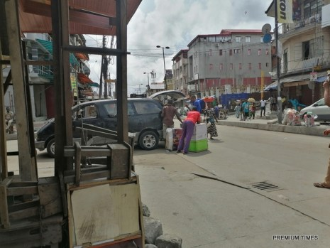 Loading vehicle with goods at Lagos island