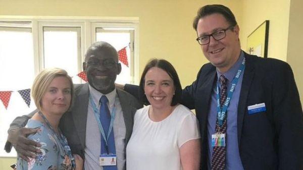 Dr Alfa Saadu (second from left). [PHOTO CREDIT: BBC]