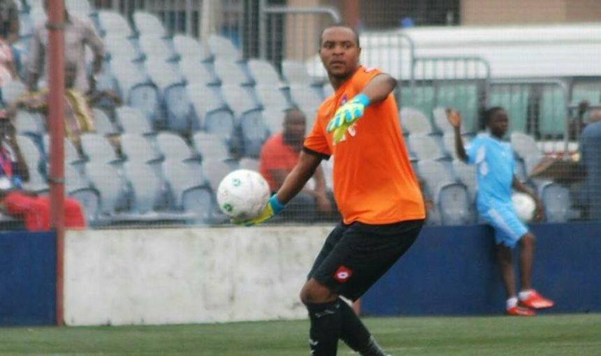 Abia Warriors goalkeeper, Charles Tambe