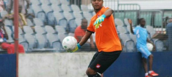 Abia Warriors goalkeeper, Charles Tambe