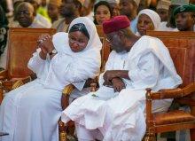 L-R: Aisha Buhari and Late Abba Kyari