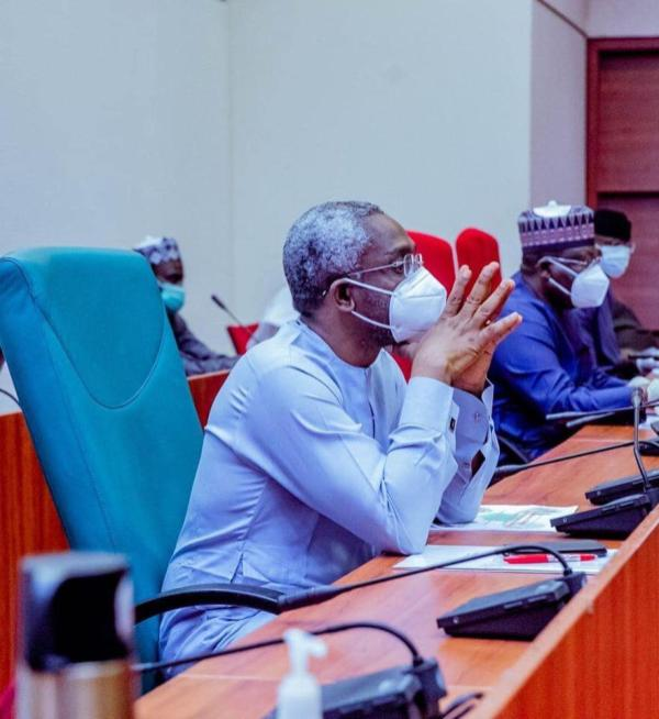National Assembly leadership during a meeting with power stakeholders