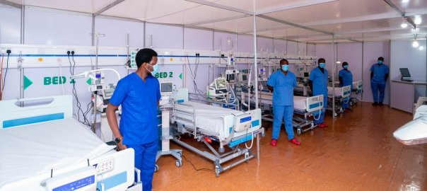 An Isolation centre in Lagos for COVID-19 patients [PHOTO CREDIT: @jidesanwoolu]