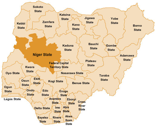 MAP OF NIGER STATE [PHOTO: Atlas]