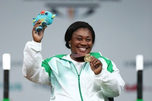 One of Nigeria's renowned power-lifters and star at the 2016 Paralympic Games in Rio De Janeiro, Ndidi Nwosu