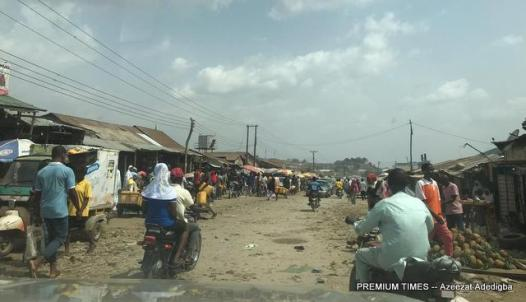 Mpape market at 3pm on Friday afternoon