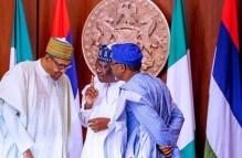 President Muhammadu Buhari, Senate President, Ahmad Lawan and Speaker Femi Gbajabiamila [PHOTO CREDIT: speakergbaja on IG]