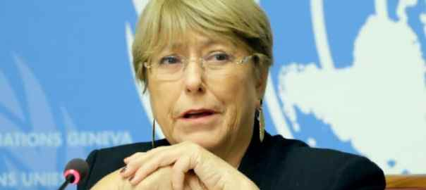 UN Human Rights High Commissioner, Michelle Bachelet. [PHOTO CREDIT: UNRIC.org]