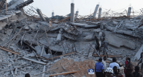 An eight-storey building collapsed in Owerri, Imo State.