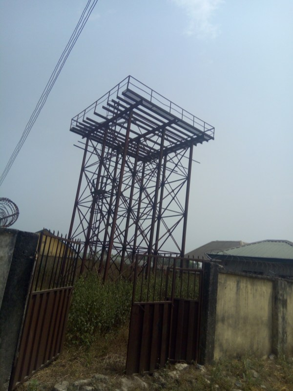 Abandoned solar-powered borehole at Emevor in Isoko North LGA