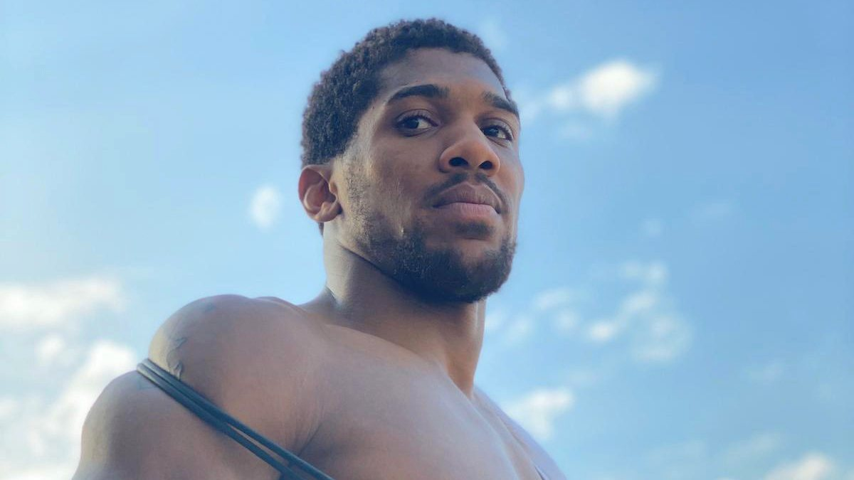 Nigeria-born British boxer, Anthony Joshua. [PHOTO CREDIT: Official Twitter handle of Anthony Joshua]