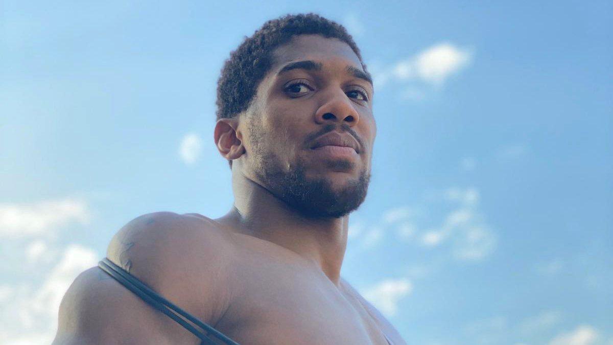 Nigeria-born British boxer, Anthony Joshua. [PHOTO CREDIT: Official Twitter handle of Anthony Joshua]