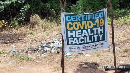 Screen centre at the boundary between of Ondo and Edo States.