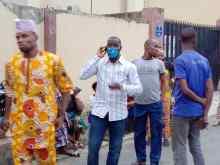 Sympathizers at Ajimobi's residence