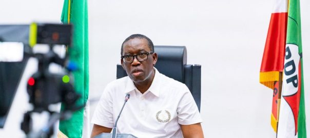 The executive governor of Delta state, Ifeanyi Okowa. [PHOTO CREDIT: Official Twitter handle of Mr Okowa]