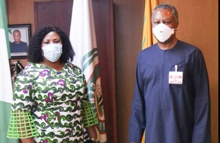 Ghanian High Commissioner in Nigeria, Iva Denoo and Minister of Foreign Affairs, Geoffrey Onyeama