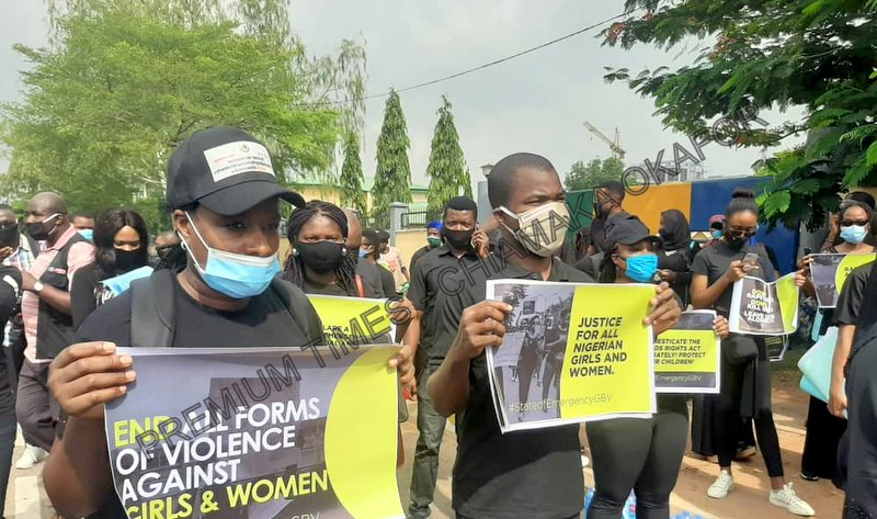 protest against gender-based violence