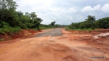 An uncompleted road project.