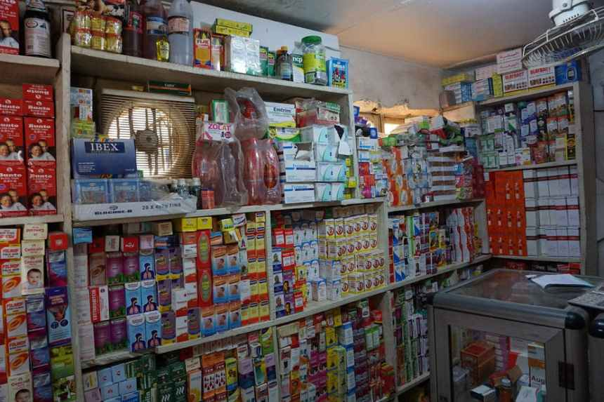 A pharmacy store in Ogun State, southwest Nigeria. Photo by Pius Utomi Ekpei /AFP via Getty Images