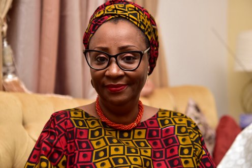 Wife of Kaduna State governor, Aisha-Ummi El-Rufai. [PHOTO CREDIT: Official Twitter handle of Mrs Hadiza @hadizel]