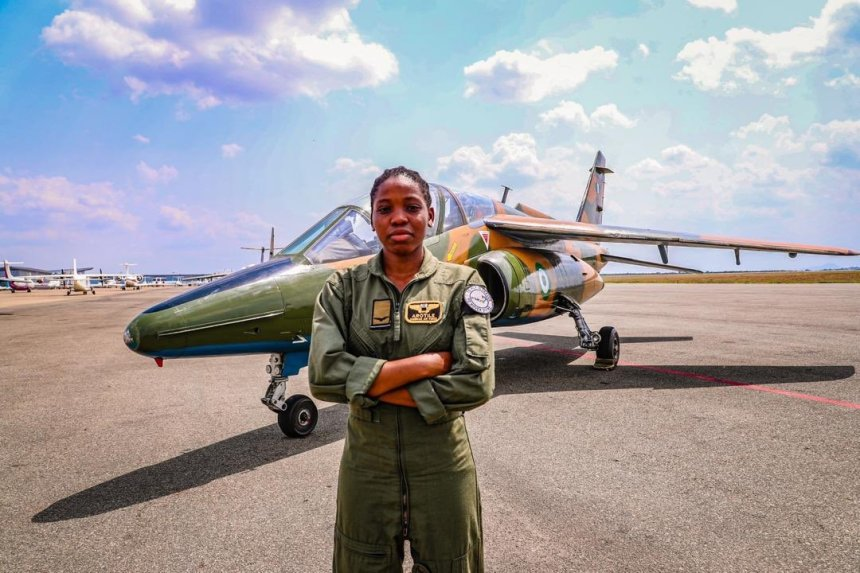 LATE FLYING OFFICER TOLULOPE OLUWATOYIN SARAH AROTILE - (1995 - 2020). [PHOTO CREDIT: Official Twitter handle of the Nigerian Air Force]