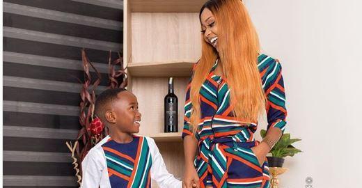 Ghanaian Actress, Rosemond Brown and Son [PHOTO CREDIT: akuapem_poloo]