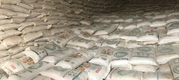 Bags of fertilizer under the Presidential Fertilizer Initiative [PHOTO CREDIT: @BashirAhmaad]