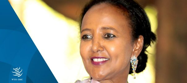 Amina C. Mohamed, Kenya's Cabinet Secretary for Sports, Heritage and Culture, nominated by #Kenya as a candidate for the post of WTO Director-General. [PHOTO CREDIT: Official Twitter handle of WTO]