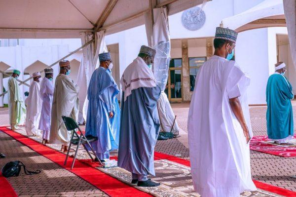 President Muhammadu Buhari celebrates Eid-el-Kabir with family