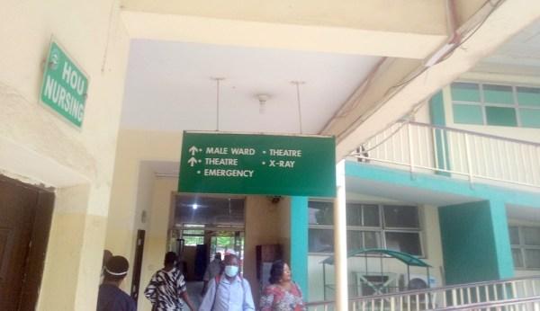 Entrance of Wuse General Hospital, Abuja. (PHOTO CREDIT: Ebuka Onyeji)