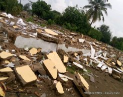 Picture of some demolished houses