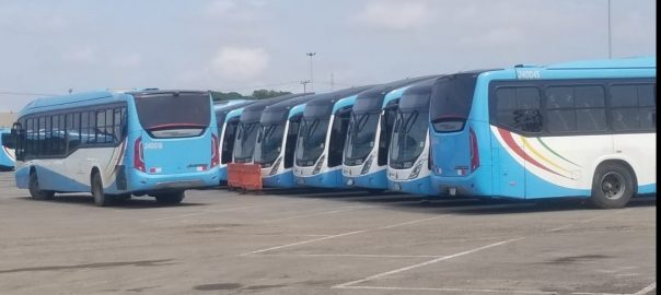 Lagos Buses [PHOTO CREDIT: @LAGOS BUS SERVICES LIMITED]