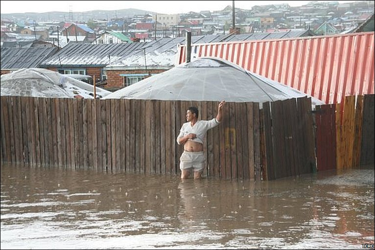 Western Mongolia floods used to illustrate the story. [PHOTO CREDIT: BBC]