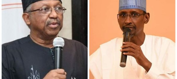 Health Minister, Osagie Ehanire and FCT Minister, Muhammad Bello