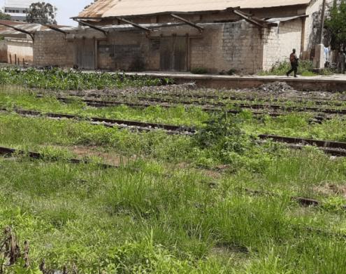 Inside Jos station; no rehabilitation of tracks