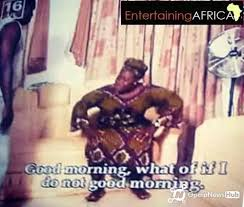 Screenshot of a Yoruba movie scene used to illustrate the story