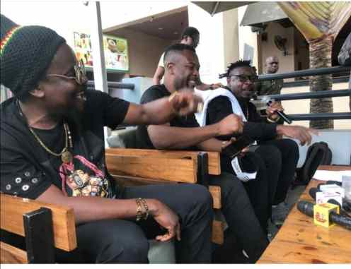 Eedris and Ruggedman at the album listening party in Lagos on Monday