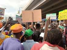 #RevolutionNow team at Victoria Island in Lagos[PHOTO CREDIT: @YeleSowore]
