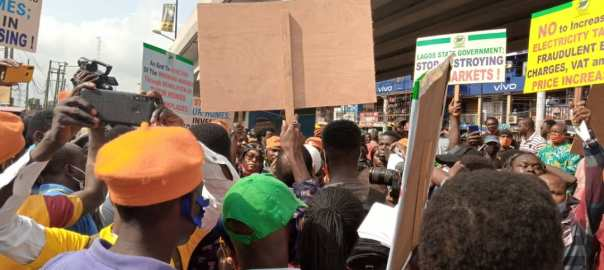 #RevolutionNow team at Victoria Island in Lagos[PHOTO CREDIT: @YeleSowore]