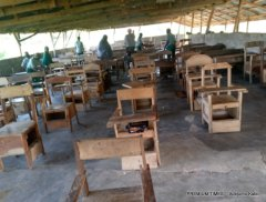 Examination hall in Iba High Sch