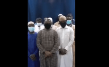 Screenshot the video clip Stranded Nigerian students in Saudi Arabia