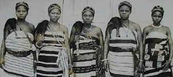 Leaders of the Aba women's protest against a tyranical warrant chief in Nigeria in 1929. National Museum of Unity, Nigeria (Photo Source: The Conversation)