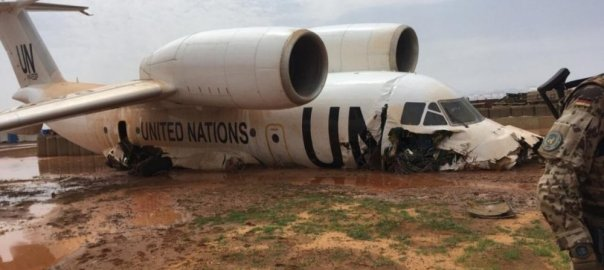 The UN plane crash site [PHOTO: Allnews]