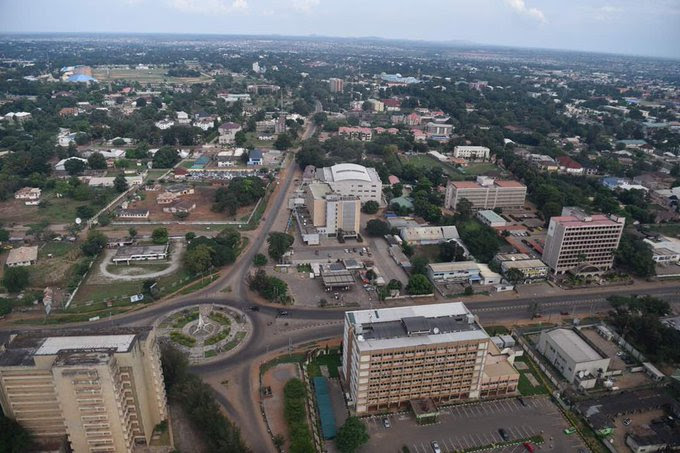 Aerial picture of Kaduna taken in October 2018. Photo: Twitter/@GovKaduna