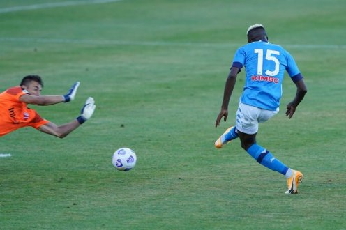 Victor Osimhen for Napoli against Teramo [PHOTO CREDIT: @victorosimhen9]
