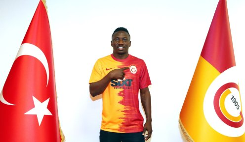 Super Eagles midfielder, Oghenekaro Etebo, has completed his loan switch to Galatasaray. [PHOTO CREDIT: Official Twitter handle of Etebo]
