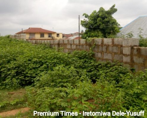 Newly constructed fence, Christ Apostolic Church primary school, Oke Apon