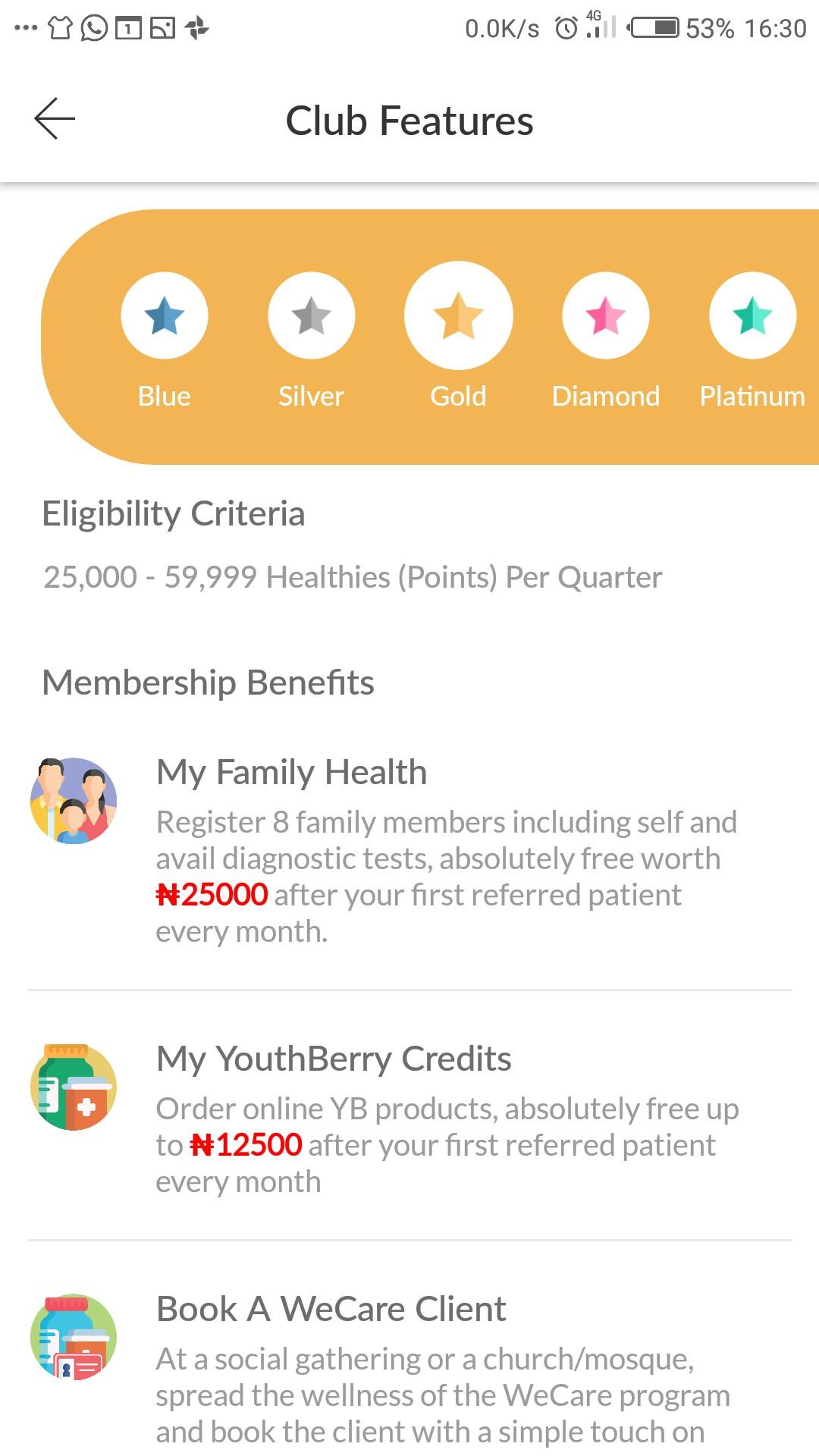 Gold Club Membership