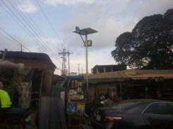 Solar street light at Labaowo market, Ogunpa (1)