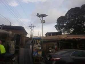 Solar street light at Labaowo market, Ogunpa (1)